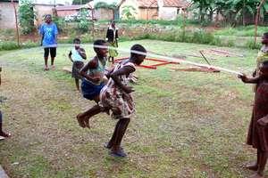 Girls Playing Jumprope