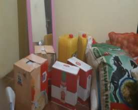 Food brought to villages during quarantine