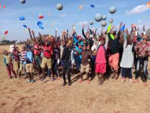 Participants with balls during a league match