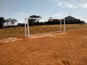 Repainted goal posts
