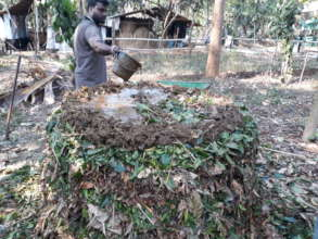 Preparation of compost pile (Gudalur)