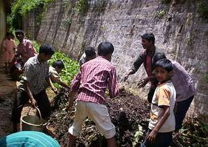 Children from the Nundhala school eco-club making