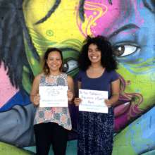 Laura & Liz support the #nosoytumamacita campaign