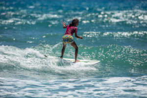 Nicole riding a wave. Photo: Sebastiano Massimino