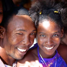 With her dad after a performance (Photo: A.Martin)