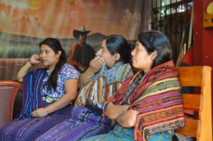 Participants look on during the session