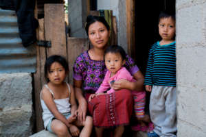 One of our sponsored mothers and her children