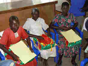 Beneficiaries after receiving scholastic materials