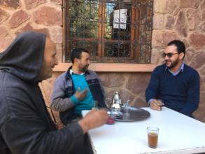 Meeting with the Dar Taliba local team
