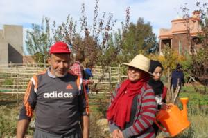 Dar Taliba team takes care of the garden