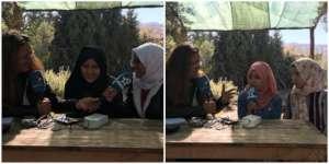 Dar Taliba students during a radio interview