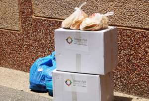 TYO's food deliveries to families in need.