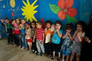 Children in the Core Child Program Wave Hello!