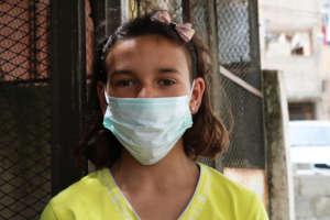 Girl in Balata Refugee Camp, Nablus - COVID-19.