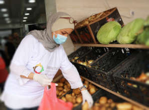 TYO staff organise food deliveries to families