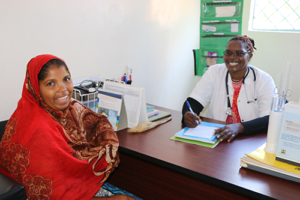 Aisha now trains women on maternal care with UNFPA