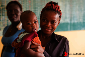 Child at the Galilee medical clinic in the DRC