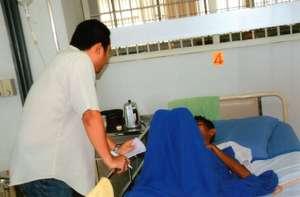 listening to very sick patient