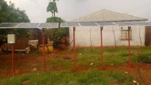 Solar panels for water pump