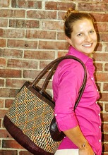 Straw & Leather Tote