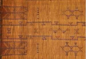 Tekurut decorated reed mat