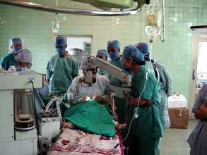 Child undergoing surgery