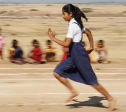 Student Participated in Running Race