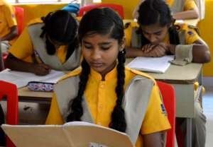 Christel House India student at school