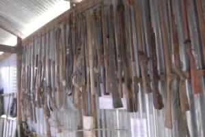 Confiscated homemade guns- used around Phnom Tamao