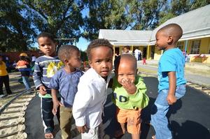 Kids on Trampoline at Philippi Children's Centre
