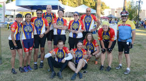 The Rotary Team gets ready to ride for polio