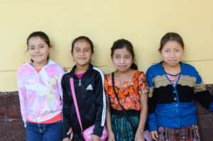 Agua Escondida Primary School students