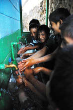 Handwashing in La Cumbre, Guatemala