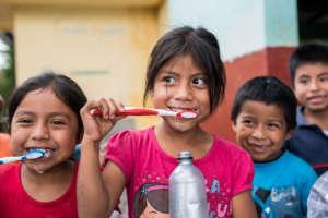 Students brush their teeth!
