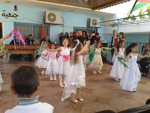 All the children dancing on Land Day