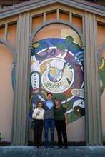 Morgan's grandfather created mural, Peace Lutheran