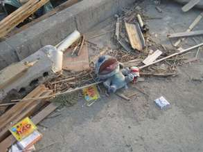 Toy near destroyed home, Rikuzen-Takata.