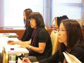 (center) Yoko Asakawa from JEN