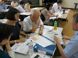 Hiroyuki Kakuho (center)  from Japan Platform