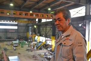 Mr. Sato's steel fabricating plant in Ofunato