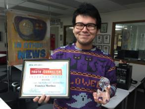 Francisco Martinez of the Alaskan Teen Media Insti