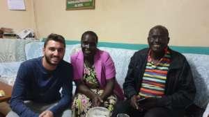 Nikos with host family