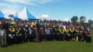 1st Graduation in full regalia