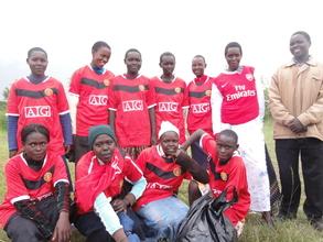 the winning girls' team