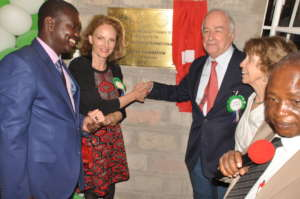 Sponsors and Governor inaugurate