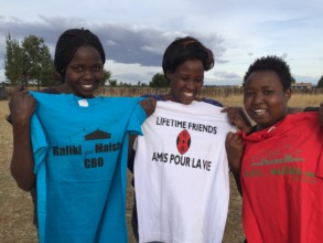 Rafiki tournament T-shirts in French colors