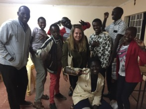 Happy Youth Group with Agatha, French volunteer