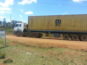Container arriving in Koshin