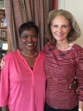 Dinah Mwinzi & Claire Mathijsen happy in Paris