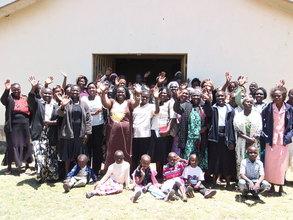 The Chepkanga community waves Thank You!